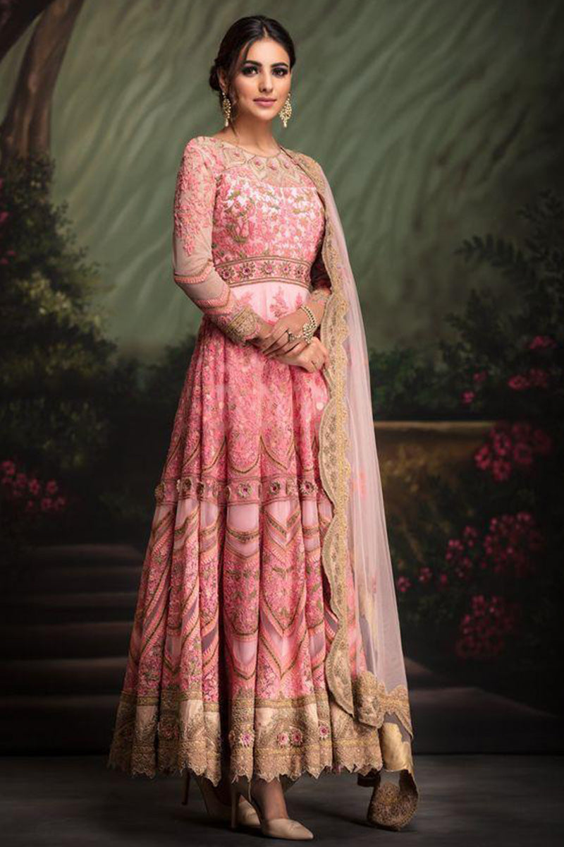 Light Pink Color Embroidered Salwar Kameez