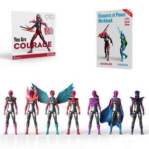 Full Set of 7 Courage Figures and Two Books