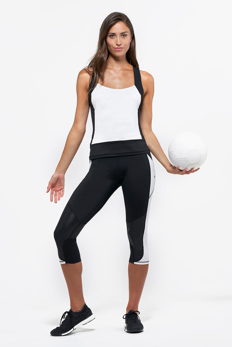 Bleecker Crop Legging - White