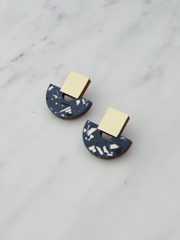 Terrazzo Blue Earrings