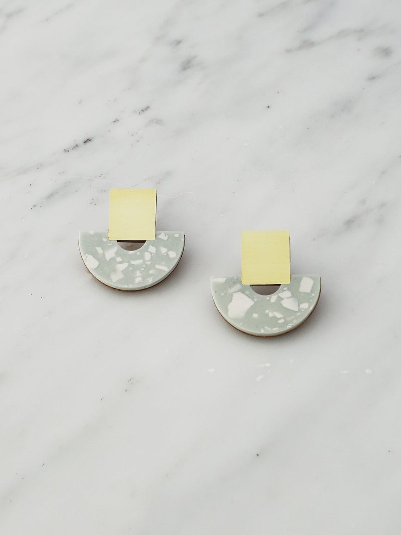 Terrazzo Sage Earrings