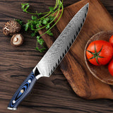 XITUO 8-inch Professional Damascus Chef's Knife Japanese AUS10 Steel Full Tang Sashimi Kitchen Knife