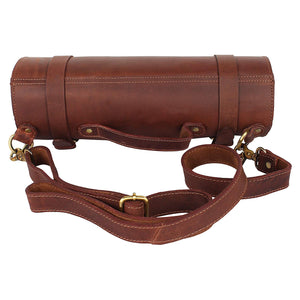 Leather Chef Knife Roll Portable Kitchen Knives bag Protector