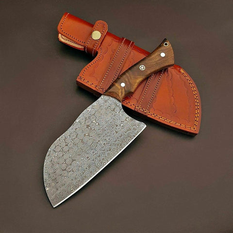 Custom Handmade Damascus Steel Claver Chef knife