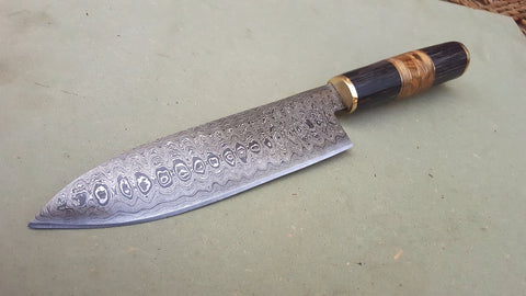 Custom Handmade Damascus Steel chef knife