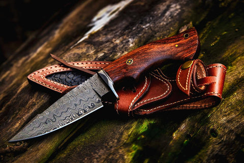 "10"" Handmade Damascus hunting knife"