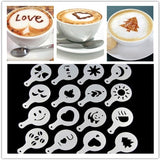 16pc Creative Kitchen Accessories Fancy Coffee Printing Template