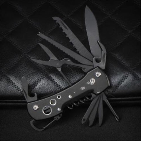 Black Multifunctional Multi Purpose Army Swiss Knife
