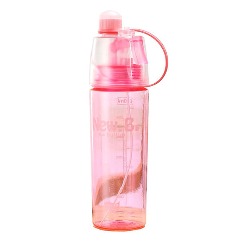 400/600ML 3 Color Solid Plastic Spray Cool Summer Sport Water Bottle