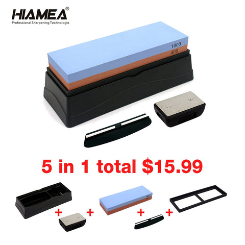 HIAMEA Double Sided Kitchen Professional knife Whetstone Sharpener