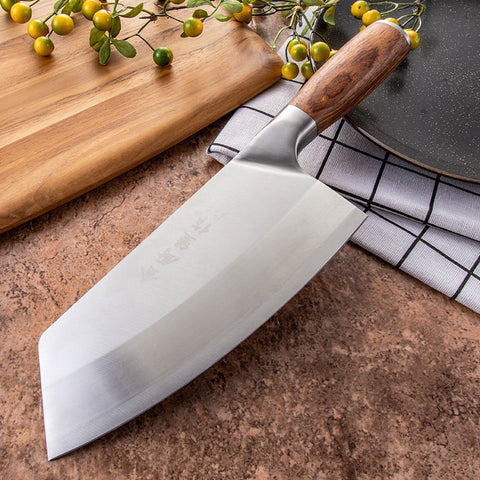 SHUOJI 4Cr13  7 inch Chinese Cleaver Chef Knife