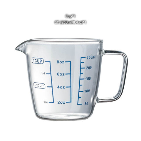 250/500ml Heat Resistant Glass Measuring Cup