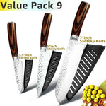 Professional Japanese Chef Knives 7CR17 Stainless Steel Kitchen Knife Set