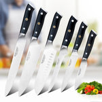 Japanese 6 Pcs 8 inch Kitchen Carbon Steel Chef Knife Set