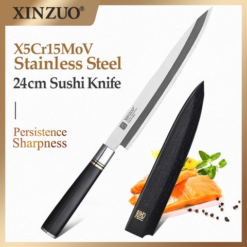 XINZUO 240/270/300mm Japanese Sashimi Sushi Knife