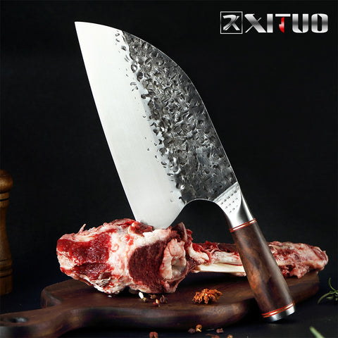 XITUO Handmade Stainless Steel Cleaver Chef Knife