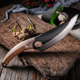 "5.5"" Handmade Forged Meat Cleaver Hunting Knife"