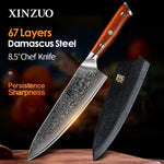 XINZUO 8.5 inch Japanese 67layer Damascus steel Chef Knife