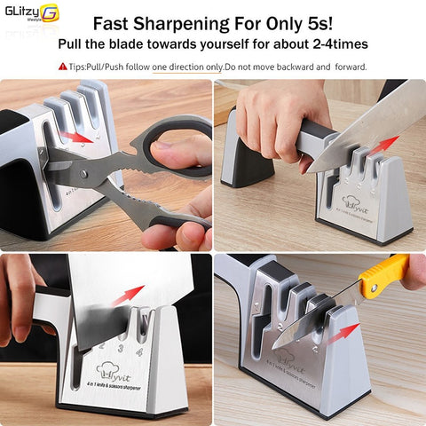 3 Stages Knife Sharpener 3 Stages Tungsten Diamond & Ceramic