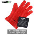 WALFOS 1 piece food grade Heat Resistant Silicone Kitchen barbecue oven glove