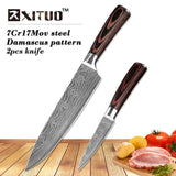 XITUO 5PCS Stainless Steel Santoku chef Knife Set