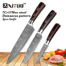 Load image into Gallery viewer, XITUO 5PCS Stainless Steel Santoku chef Knife Set