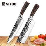 XITUO 8 inch Santoku Japanese 7CR17 440C Stainless Steel Chef Knife