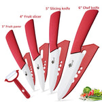 Ceramic Knives Kitchen knives 3 4 5 6 inch Chef knife Set+peeler