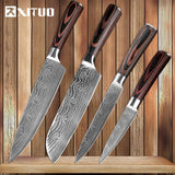 XITUO Damascus Stainless Steel Chef Knives Set