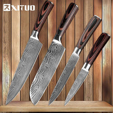Load image into Gallery viewer, XITUO Damascus Stainless Steel Chef Knives Set