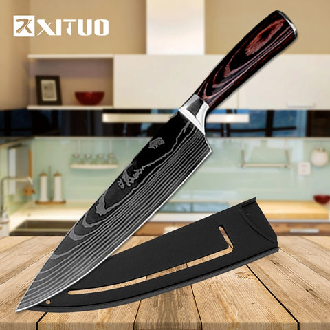 XITUO  7CR17 High Carbon Stainless Steel Japanese chef knife