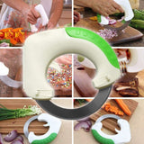 Kitchen Chef Knife 360 Cutter Multifunctional Stainless Steel Round Shaped Rolling Circular Wheel Kitchen Knife
