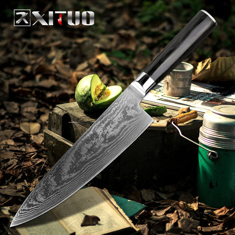 XITUO Damascus Sashimi Chef Knife