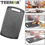 TEENRA Plastic Anti-bacterial Kitchen Chopping Cutting Board