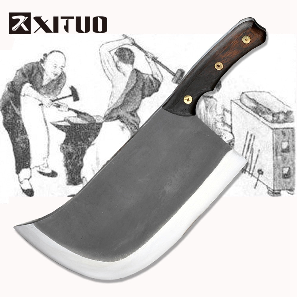 XITUO Metal Forged Handmade Clip Steel Chef Boning Knife