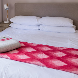 Tweedmill Red Prism Welsh Throw
