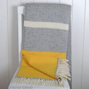 Yellow Panel Throw by Tweedmill