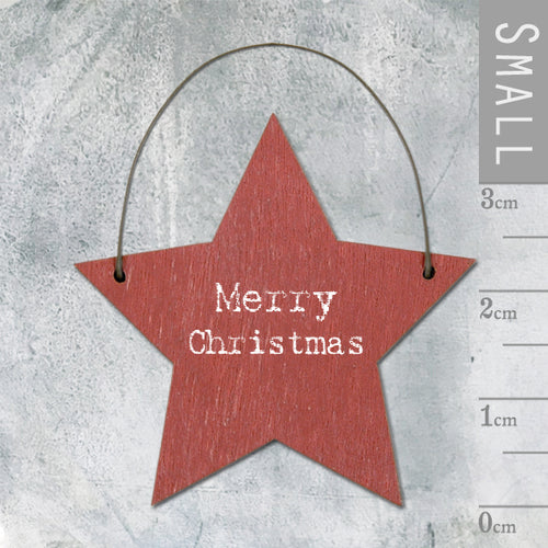 Mini Merry Christmas Star Hanger