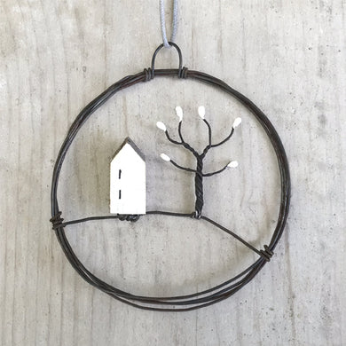 Small Wire House Bauble