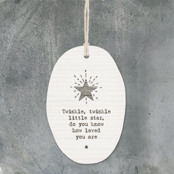 Porcelain Oval Twinkle Decoration