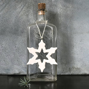 Porcelain Snowflake Outline Tree Decoration