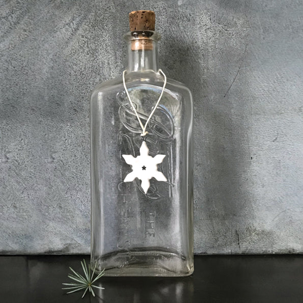 Porcelain Small Snowflake Tree Decoration