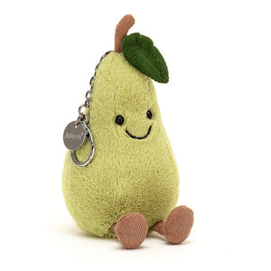 Amusable Pear Bag Charm by Jellycat