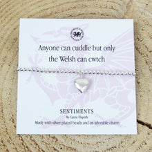 Carrie Elspeth 'Anyone can Cuddle, but only the Welsh can Cwtch' Sentiment Bracelet