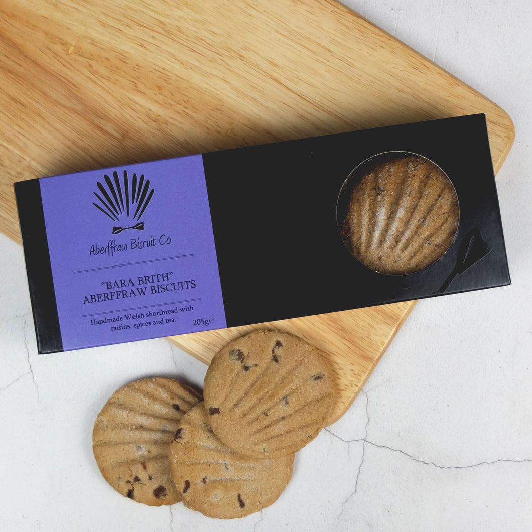Aberffraw luxury Bara Brith Shortbread Biscuits