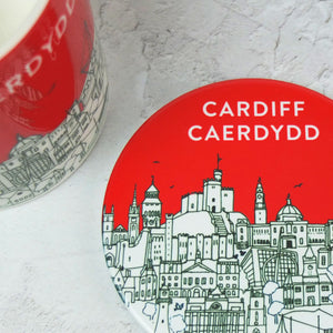 Red Cardiff Coaster