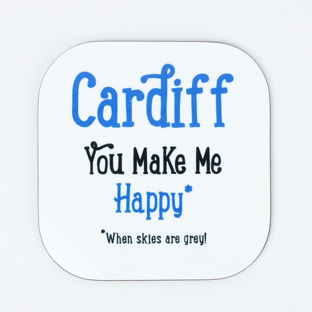Cardiff You Make Me Happy Coaster