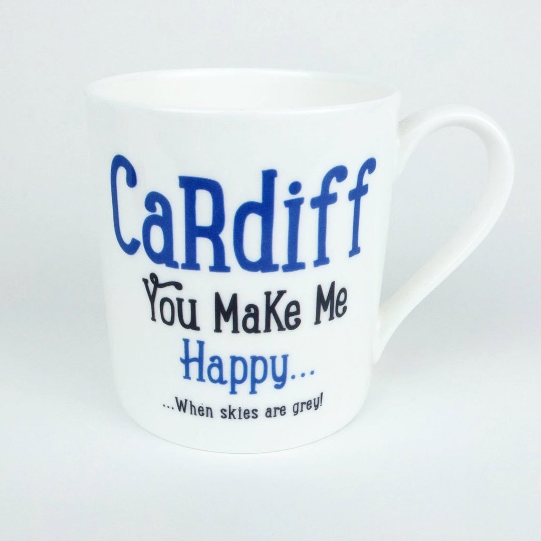 Cardiff You Make Me Happy Mug
