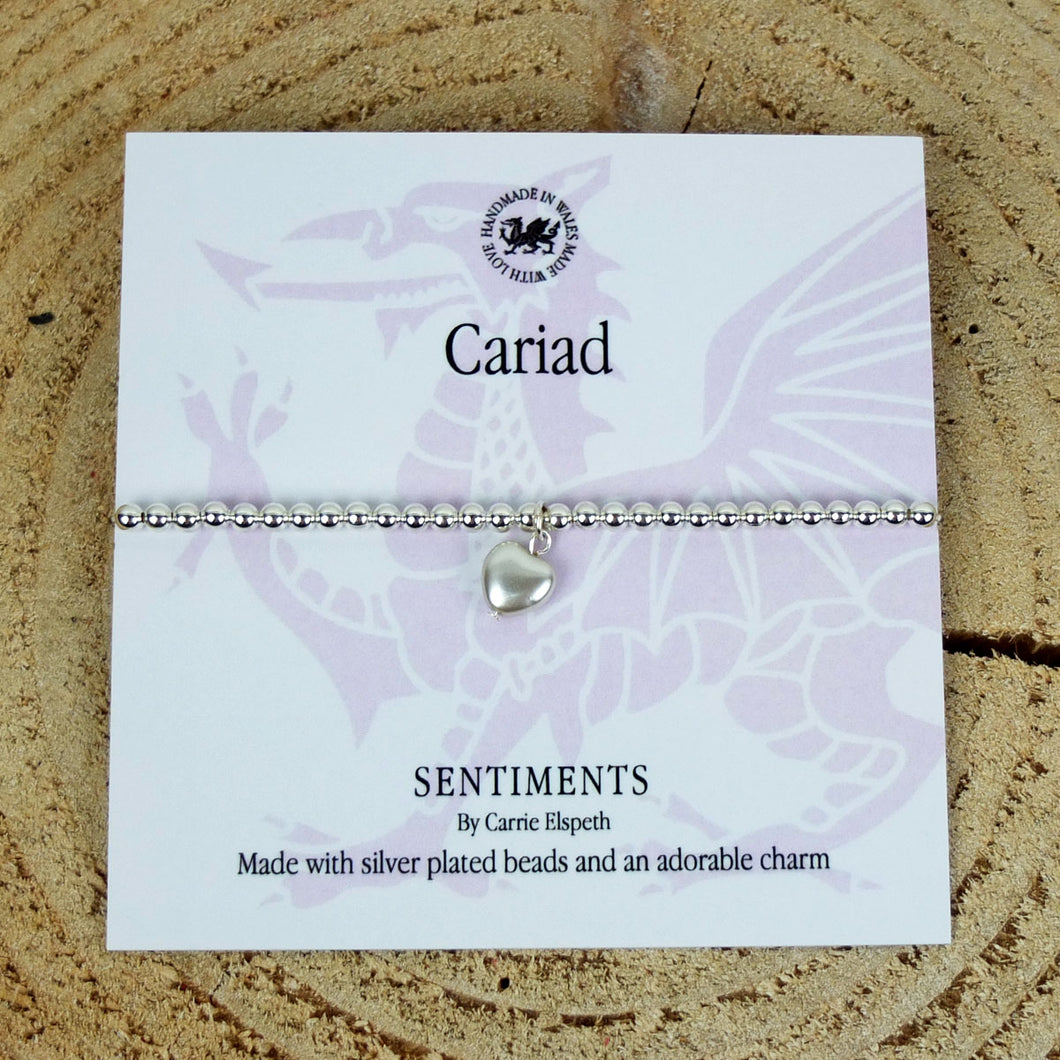 Carrie Elspeth 'Cariad' Sentiment Bracelet