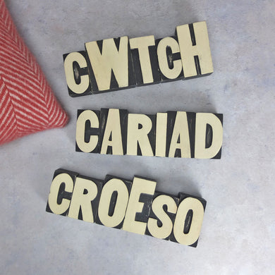 CWTCH LETTER BLOCK